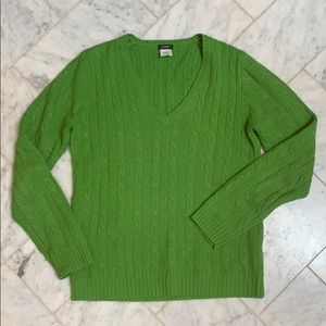 J Crew women's merino wool blend cable sweater